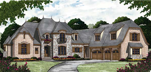 French Country House Plan 85650 with 4 Beds, 7 Baths, 3 Car Garage Elevation