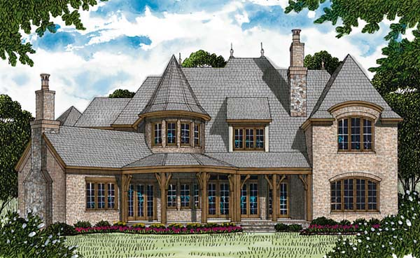 French Country House Plan 85650 Rear Elevation