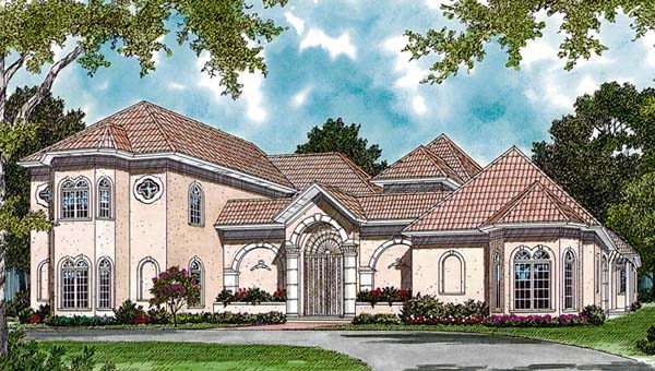 European, Mediterranean House Plan 85651 with 4 Beds, 5 Baths, 3 Car Garage Elevation