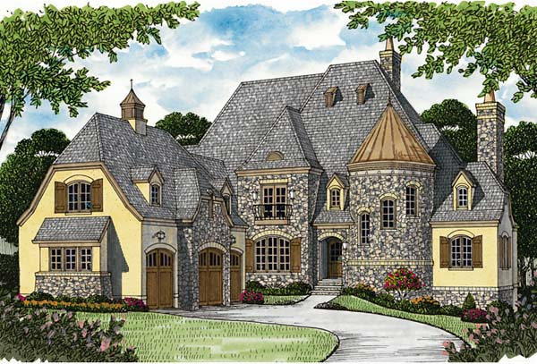 Country , European , Elevation of Plan 85656