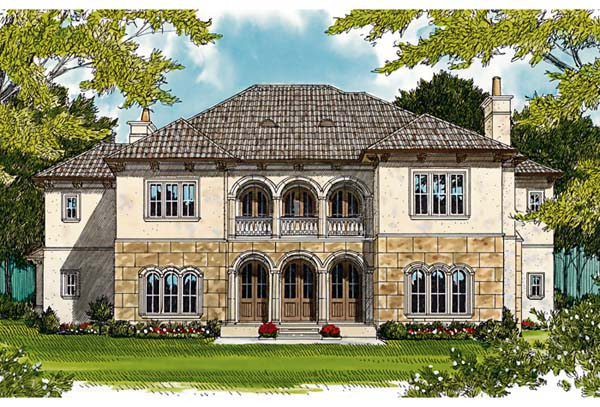 European Mediterranean House Plan 85658 Rear Elevation