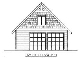 Garage Plan 85801 Elevation