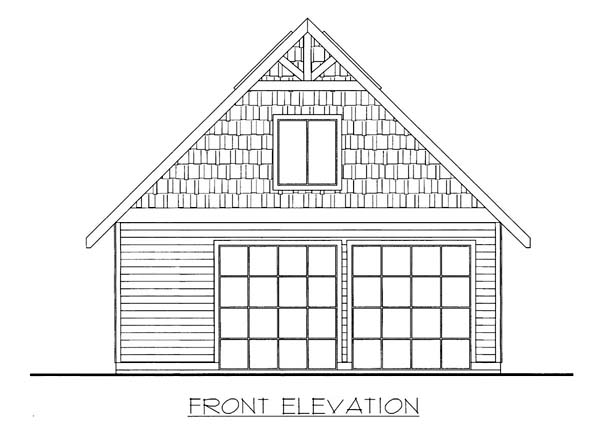 Garage Plan 85801 Elevation