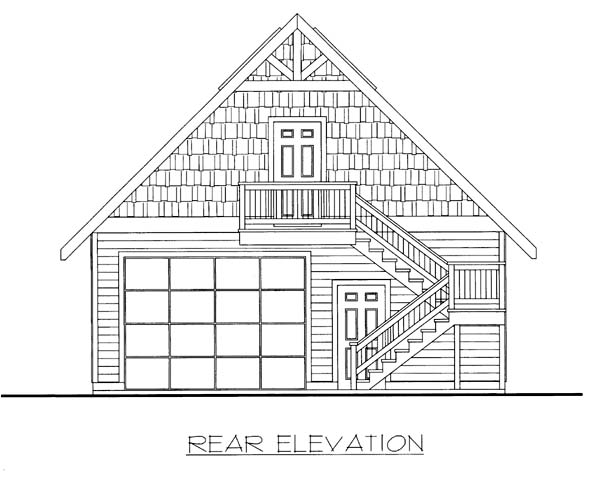 Garage Plan 85801 Rear Elevation