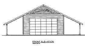 2 Car Garage Plan 85802, 1 Baths Elevation