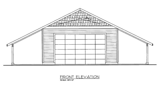 Elevation of Plan 85802