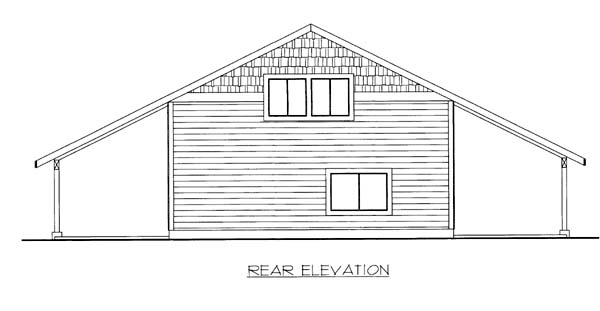 Garage Plan 85802 Rear Elevation