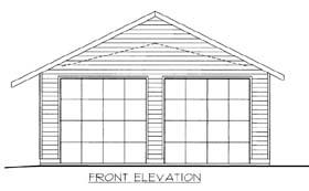 2 Car Garage Plan 85803 Elevation