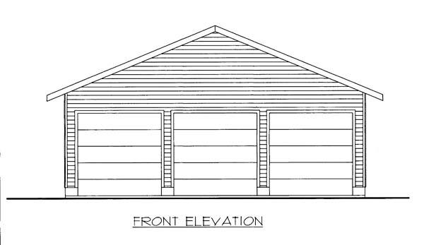 Garage Plan 85804 Elevation