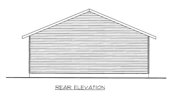 Garage Plan 85804 Rear Elevation
