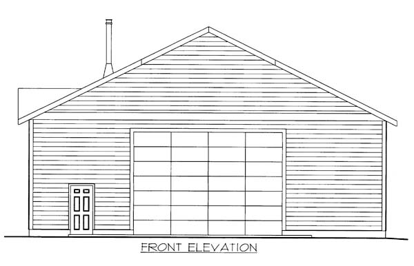 Elevation of Plan 85805