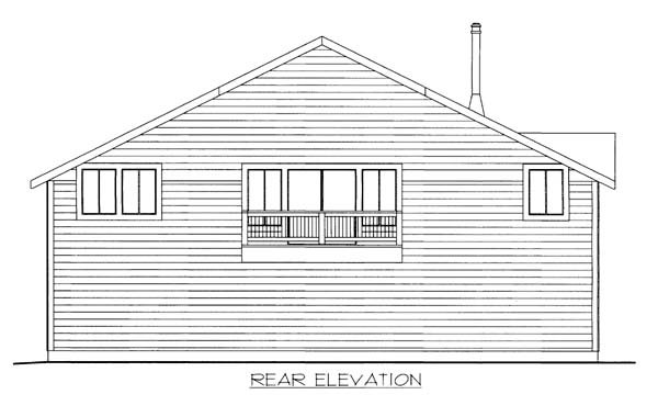Garage Plan 85805 Rear Elevation