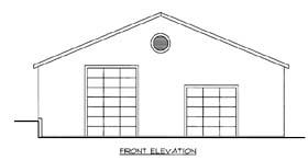 3 Car Garage Plan 85806 Elevation
