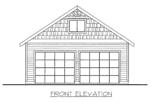 2 Car Garage Plan 85807 Elevation