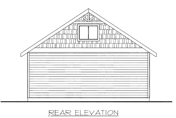 Garage Plan 85807 Rear Elevation