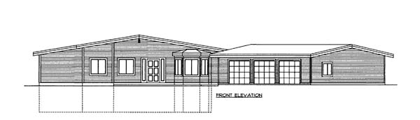 House Plan 85810 Elevation