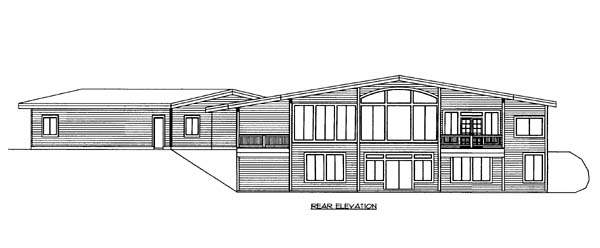 House Plan 85810 Rear Elevation
