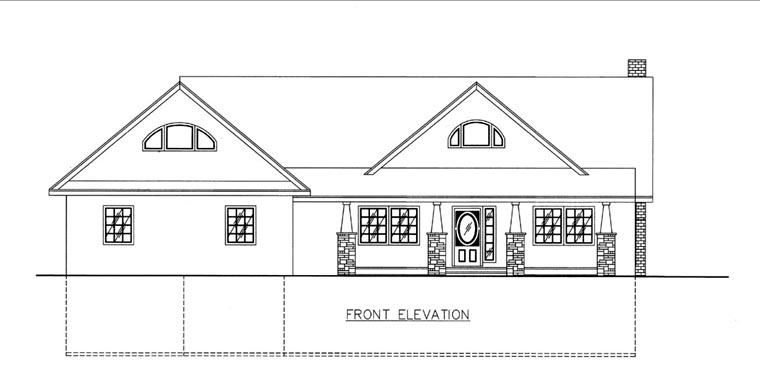 House Plan 85811 Elevation