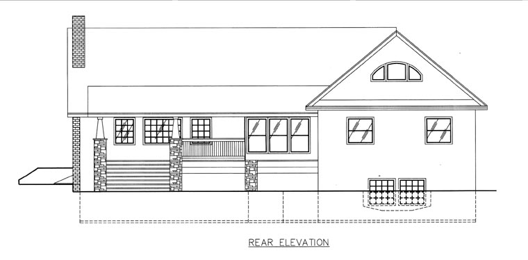 House Plan 85811 Rear Elevation