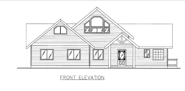 House Plan 85812 | Style Plan with 2075 Sq Ft, 2 Bedrooms, 2 Bathrooms, 2 Car Garage Elevation