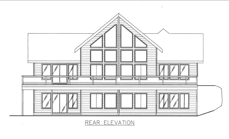 House Plan 85812 Rear Elevation