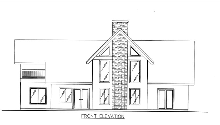 House Plan 85814 Elevation