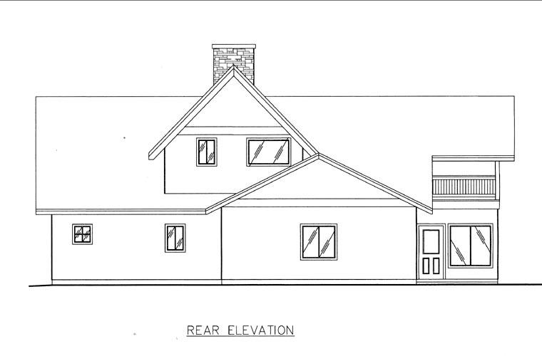 House Plan 85814 Rear Elevation
