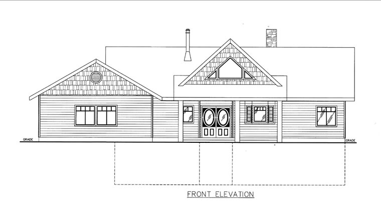 House Plan 85815 Elevation