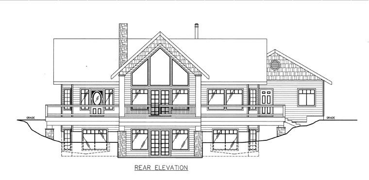 House Plan 85815 Rear Elevation