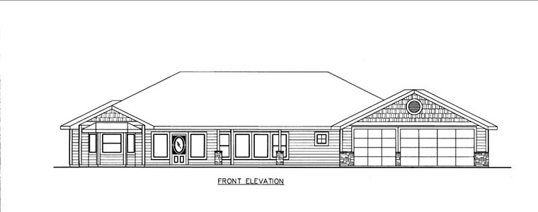 House Plan 85816 Elevation