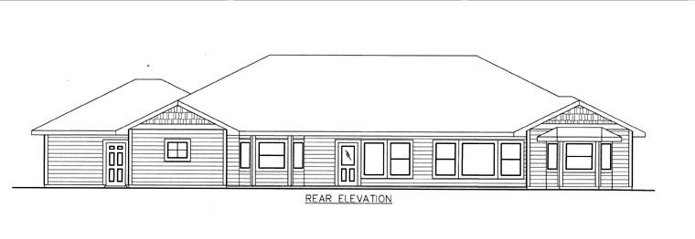 House Plan 85816 Rear Elevation