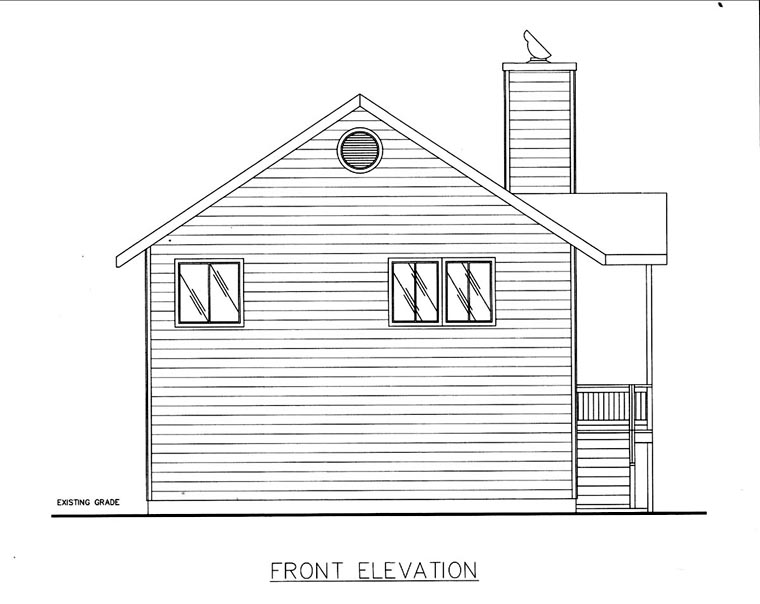 House Plan 85817 Elevation