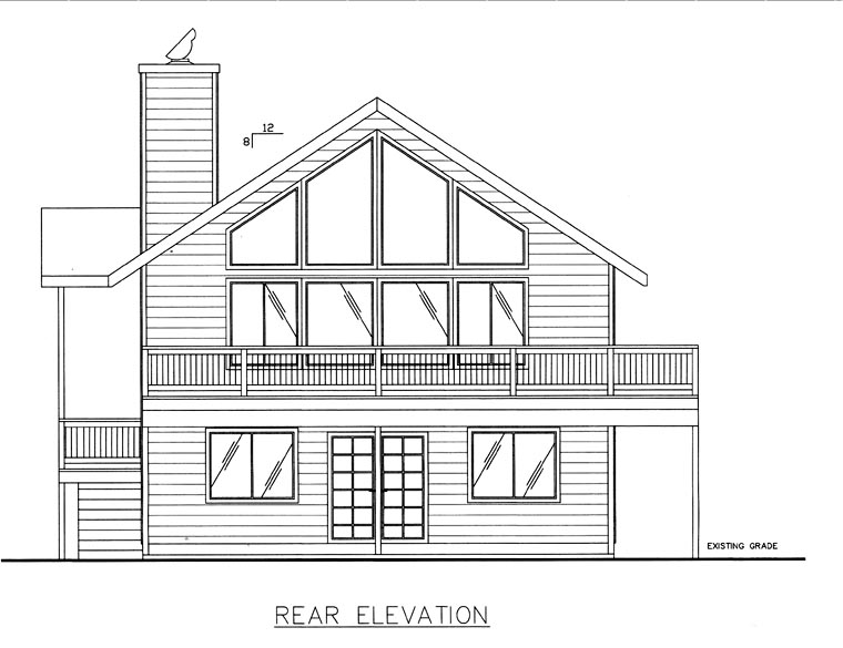 House Plan 85817 Rear Elevation