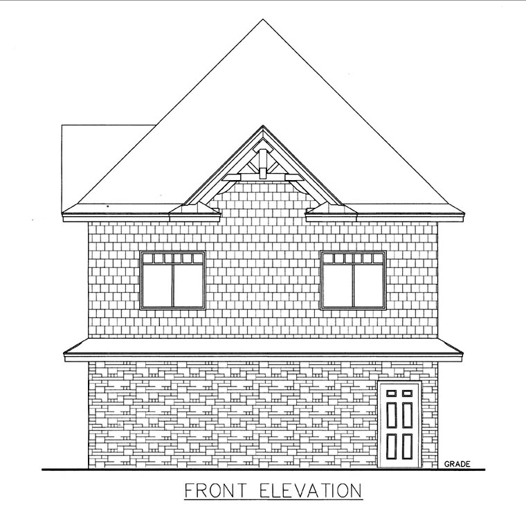 Garage Plan 85818 Elevation