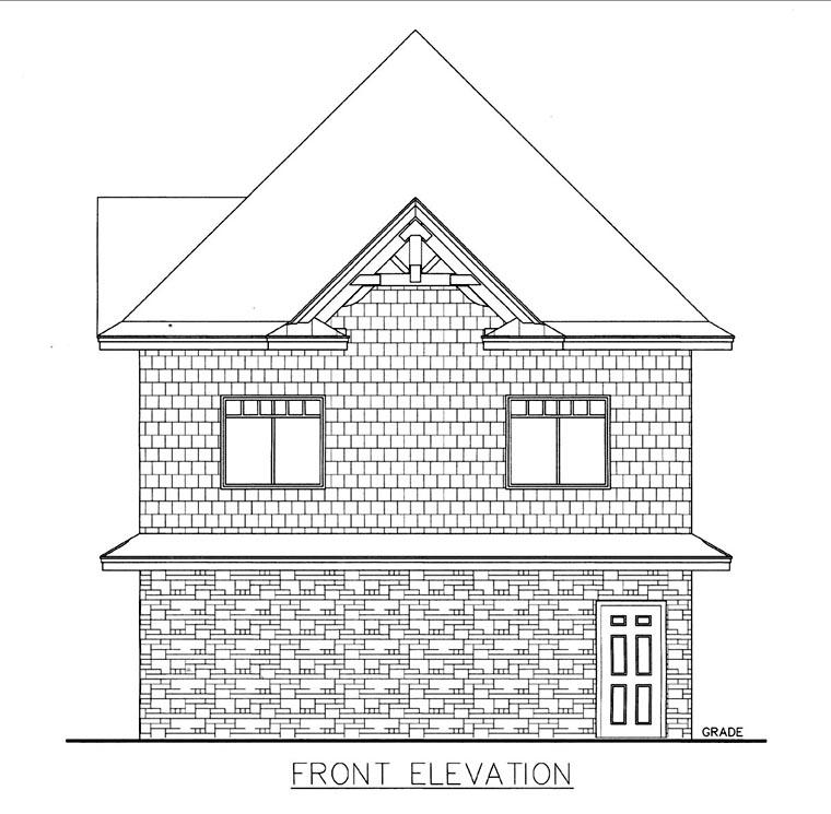 Garage Plan 85818 Elevation