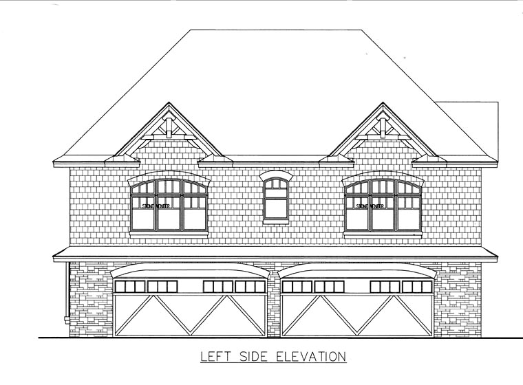 4 Car Garage Apartment Plan 85818 with 3 Beds, 2 Baths Picture 1