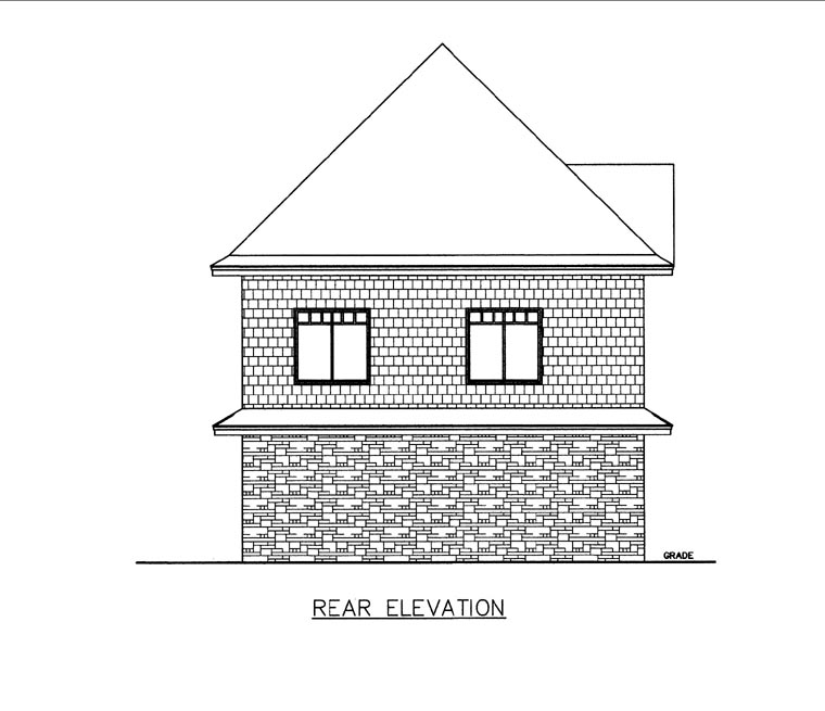 Garage Plan 85818 Rear Elevation