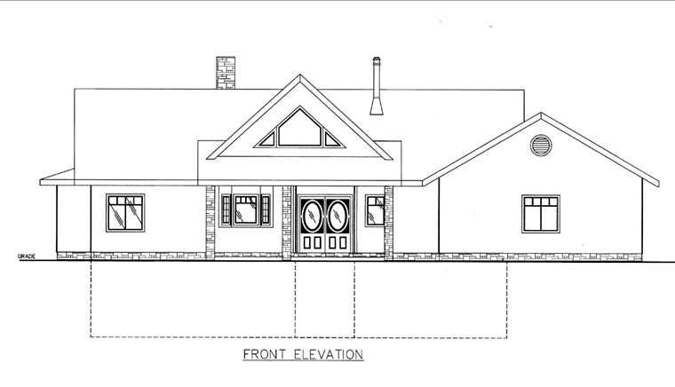 House Plan 85820 Elevation
