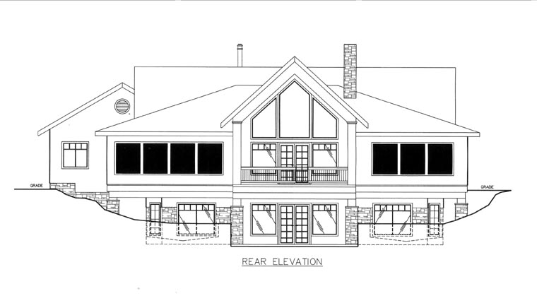 House Plan 85820 Rear Elevation
