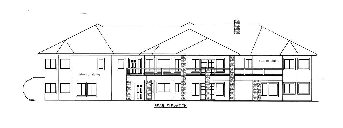 House Plan 85821 Rear Elevation