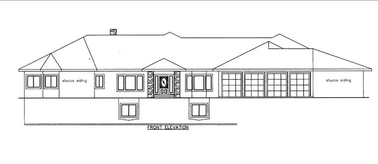 House Plan 85822 Elevation