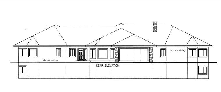 House Plan 85822 Rear Elevation