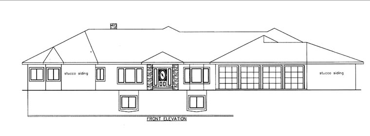 House Plan 85823 Elevation