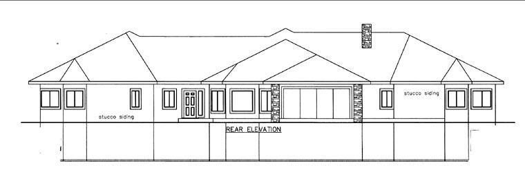 House Plan 85823 Rear Elevation