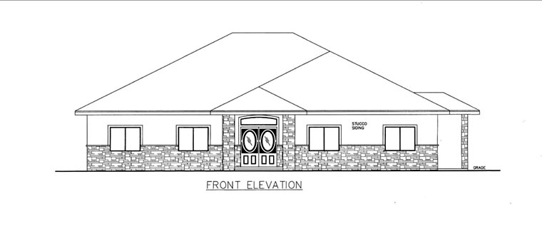 House Plan 85824 Elevation
