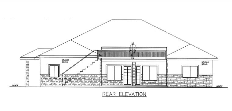 House Plan 85824 Rear Elevation