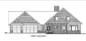 House Plan 85825 | Style Plan with 2098 Sq Ft, 3 Bedrooms, 2 Bathrooms, 3 Car Garage Elevation
