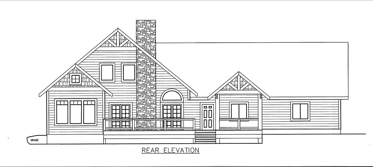 House Plan 85825 Rear Elevation