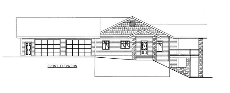 House Plan 85826 Elevation