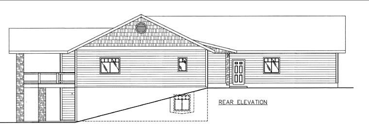 House Plan 85826 Rear Elevation